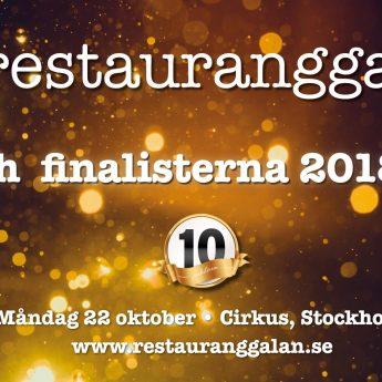 Två finalister från Djurgården till årets Restauranggala