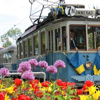Spårvagnens återkomst i Stockholm firar 30 år!