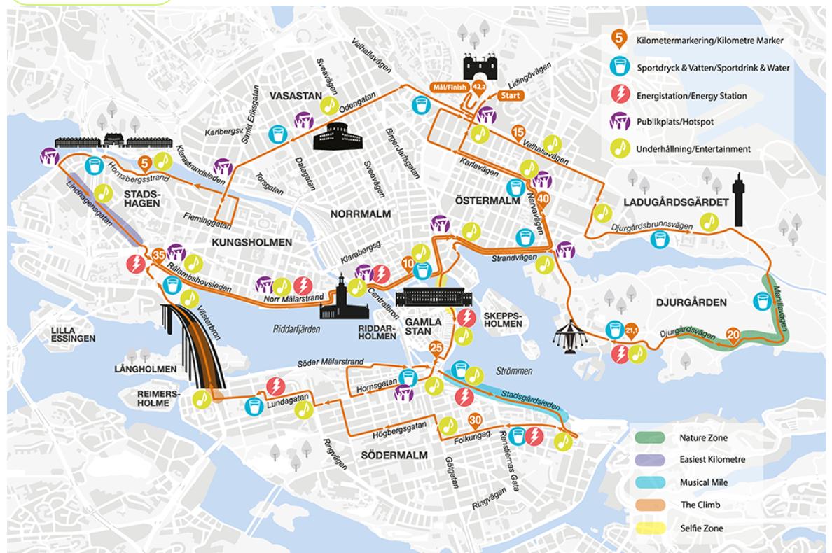 Stockholm Marathons nya sträckning