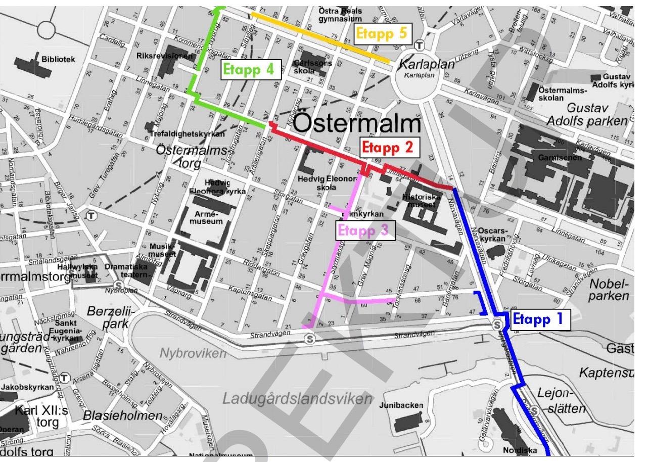 Ombyggnation av elnät på Östermalm & Södra Djurgården