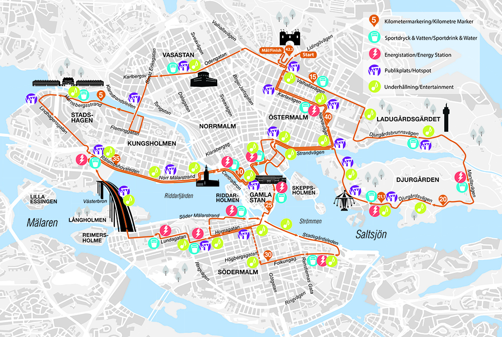 Trafikinformation inför Stockholm Marathon 2019