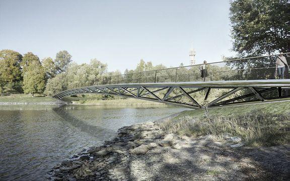 Nu tas första spadtaget för den nya bron på Djurgården!