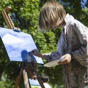 Friluftsmåleri: Höst i konstnärens trädgård