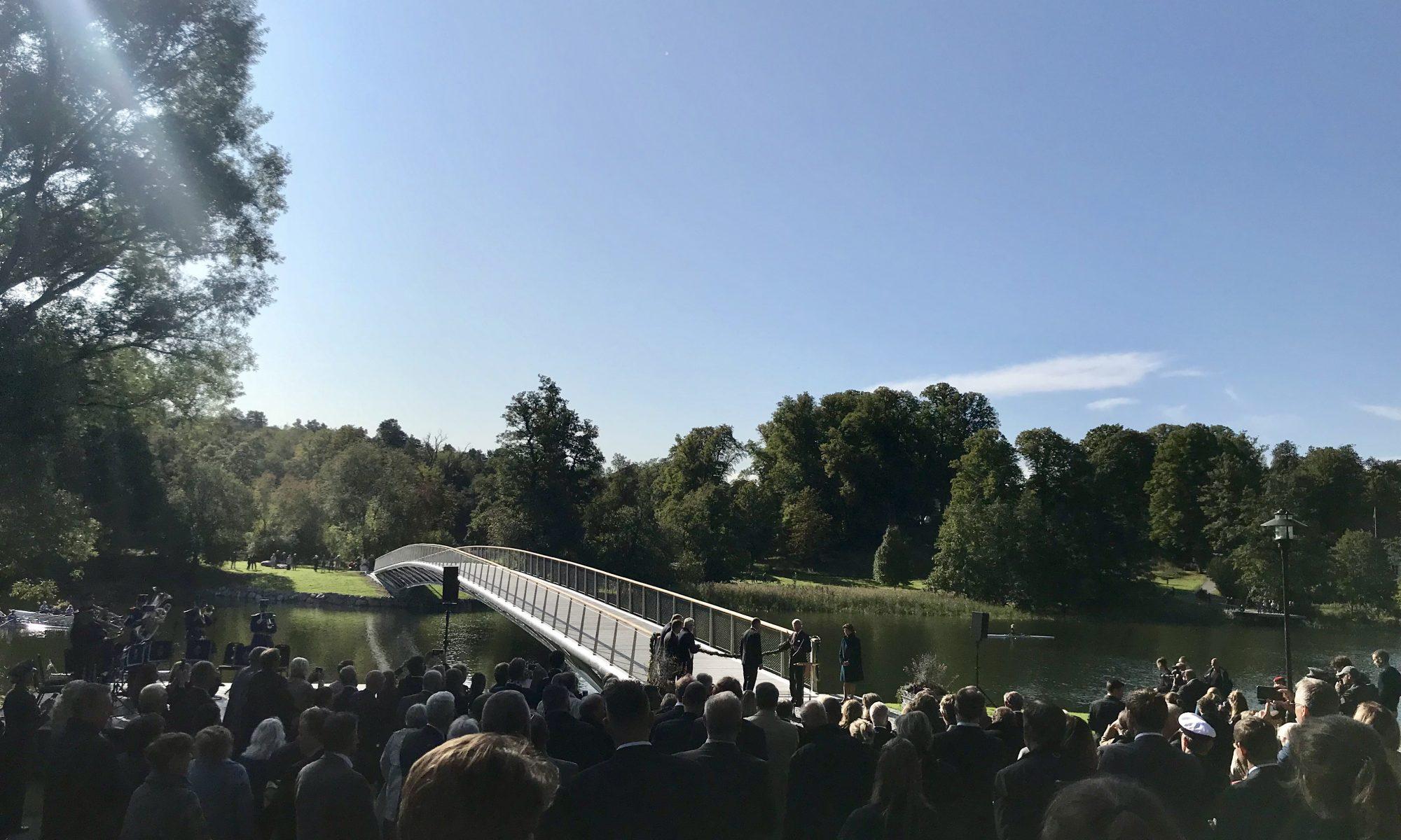 Invigning av Folke Bernadottes bro på Djurgården