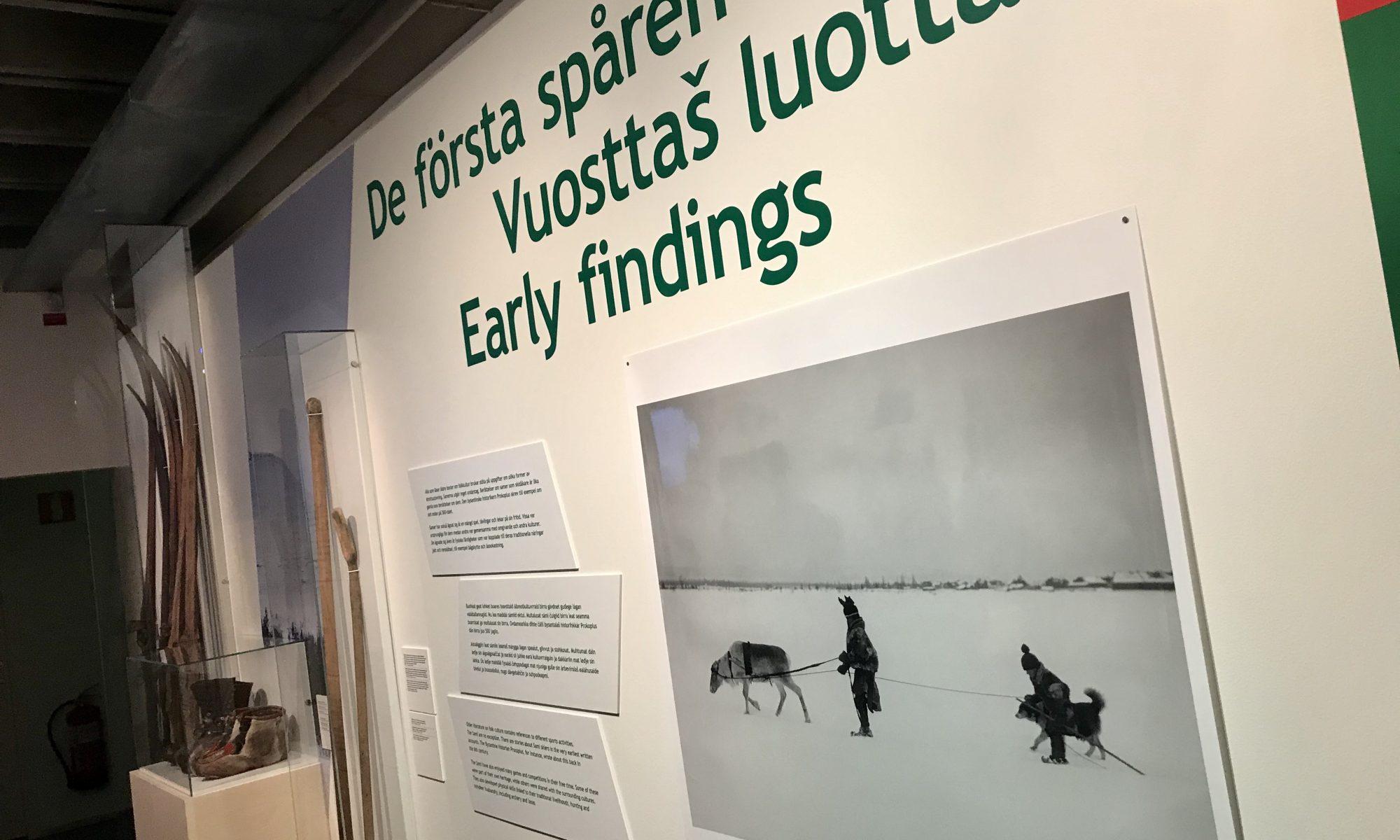 """Utställningen """"Sport och Sápmi"""" invigs på Riksidrottsmuseet"""