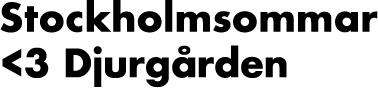 Stockholmssommar <3 Djurgården - svart