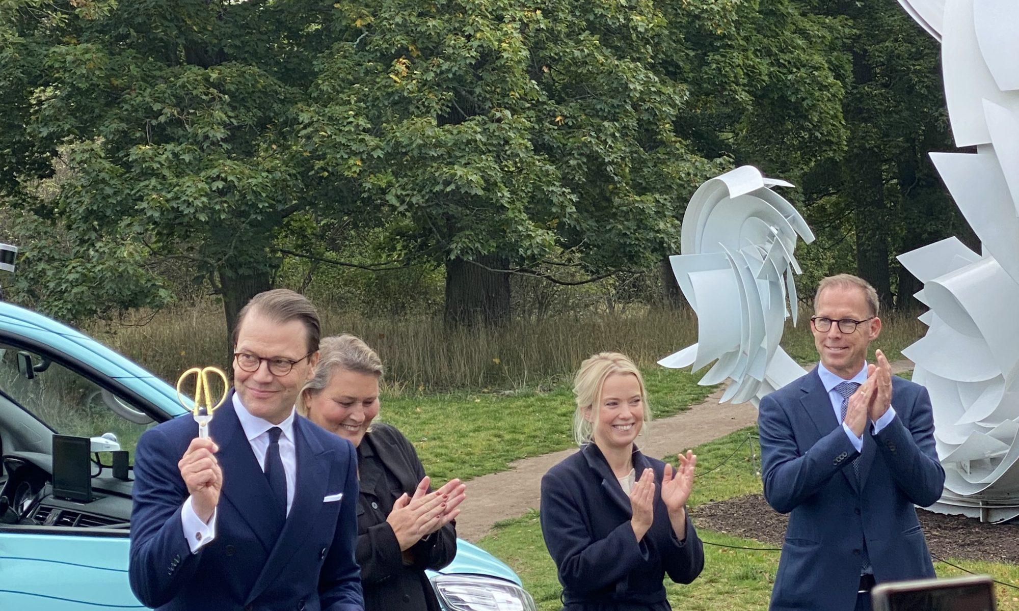 H.K.H Prins Daniel inviger förarlös bil på Djurgården