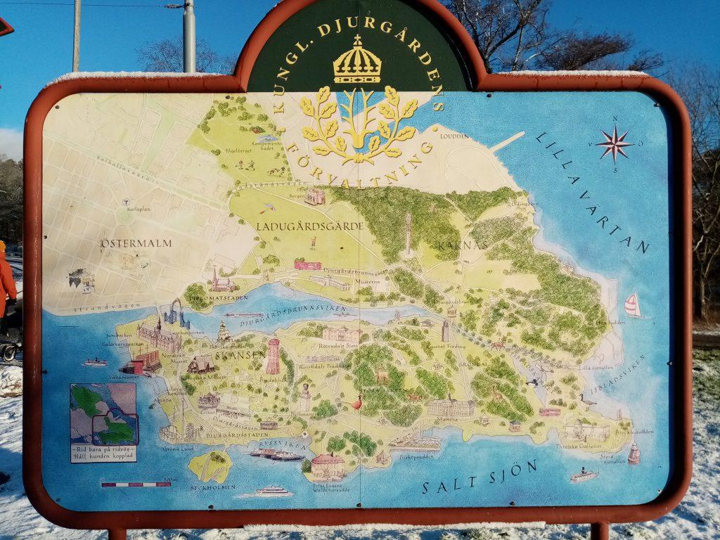 Karta över Djurgården