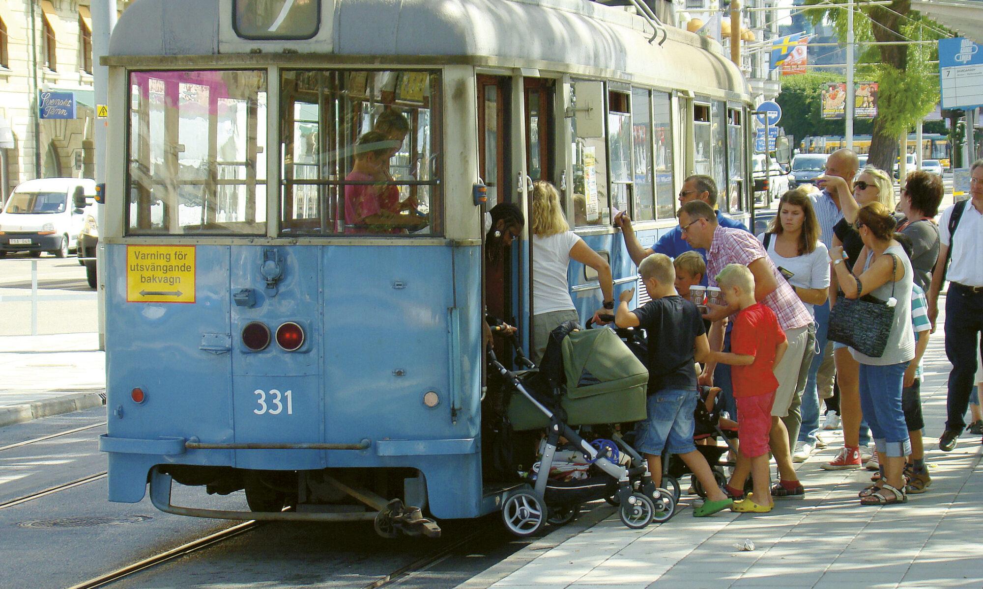 Äntligen går de gamla spårvagnarna i tjänst igen