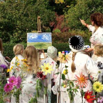 Hösten i konstnärens trädgård